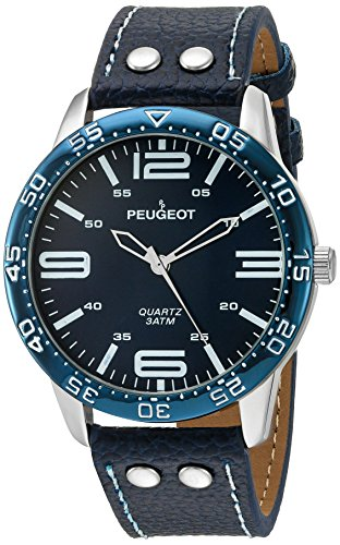 Peugeot Men's Water Resistant Aviator Watch with Matching Wrist Band