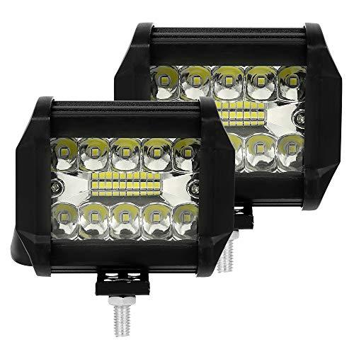 2PCS Faro LED Trabajo 12V 200W 6000K IP68 Impermeable Foco de Trabajo...