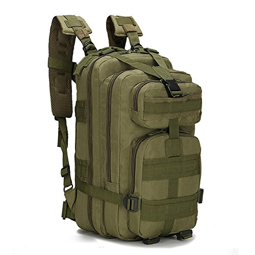 Greenpromise 30L Uomo Donne Borsa Sportiva Escursionismo Campeggio Viaggi Trekking Borsa Militare Zaino Tattico Zaini (Verde militare)