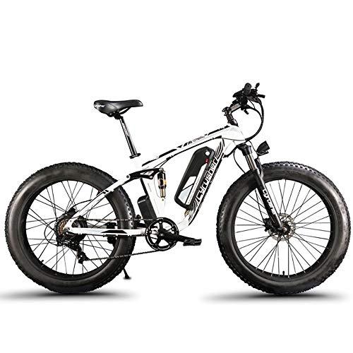 Extrbici XF800 Bici Elettrica Mountain Bike 1000W 48V 13Ah 624Wh BatteriaBici Elettrica 26 Pollici Batteria a 7 Marce Freno Idraulico con Porta di Ricarica USB
