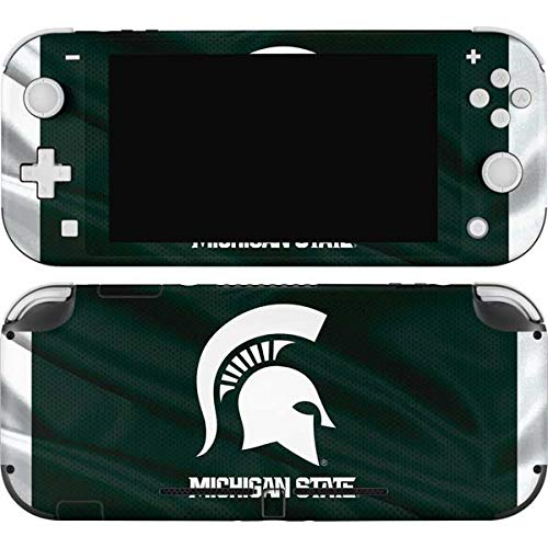 Skinit Decal Gaming Skin Compatible with Nintendo Switch Lite - Officially Licensed College Michigan State University Away Grey Jersey Design