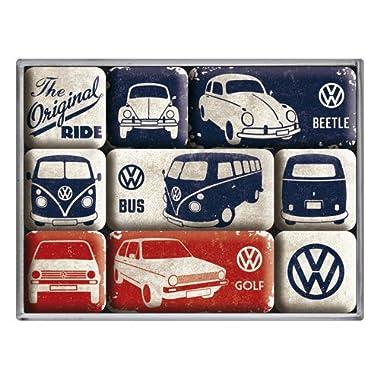 Volkswagen VW Original Ride set of 9 Mini Fridge Magnets in box (na)