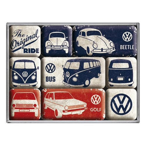 Nostalgic-Art Magnet, Volkswagen - Beetle & Golf - The Original Ride
