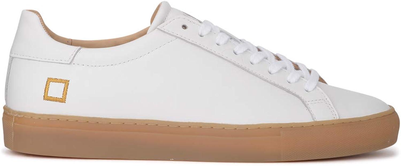 D.A.T.E. Man's Newman Calf White Leather Sneaker