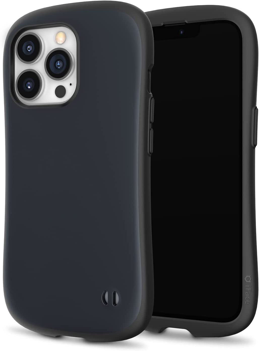 iFace First Class Kusumi Series Designed for iPhone 13 Pro - Soft Light Pastel Aesthetic Colors // Cute Shockproof Dual Layer [Hard Shell + Bumper] Phone Case [Drop Tested] - Black