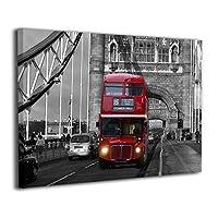 Skydoor J パネル ポスターフレーム バス レッド 印象 インテリア アートフレーム 額 モダン 壁掛けポスタ アート 壁アート 壁掛け絵画 装飾画 かべ飾り 50×40