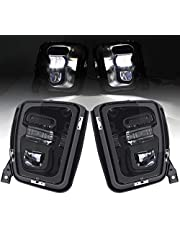 KMFCDAE Upgraded 48W LED Fog Lights for Dodge Ram 1500 2013 2014 2015 2016 2017 2018 Bumper Driving Fog Lamps Replacement - 1 Pair Black