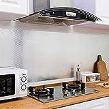 KINLO 0.61 x 5 m Aluminium Folie Aufkleber Küchen Selbstklebende Küchenfolie Hitzebeständig Tapete Öl-Resistent Wasserdicht Anti-Schimmel DIY Möbel Folie für Küchen, Schrank, Möbel, Tische Typ-C - 2