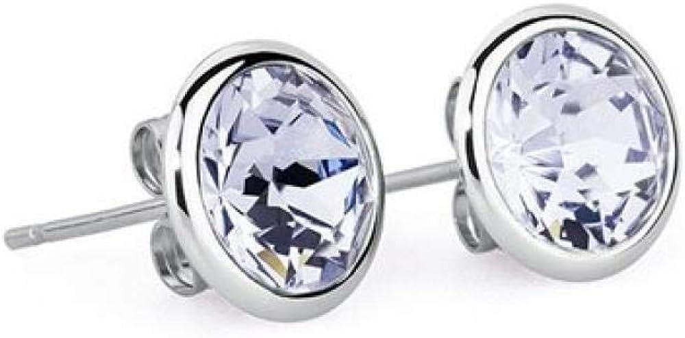 Brosway e-tring trendy orecchini per donna in acciaio e swarovski rotondi provence 8058773503732