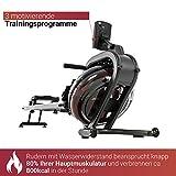 Fuel Fitness RG500 Fitness-Rudergerät, Wasserrudergerät für zuhause, realistisches Rudergefühl, Nutzergewicht bis 150kg, LCD-Rudercomputer mit App-Anbindung - 7