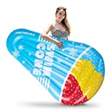 """Hoovy Giant Snow Cone Inflatable Pool Float, 72""""x40""""x10"""" Pool Float Ride On, Snow Cone Inflatable Float, Fun Beach Floaties, Party Toys, Summer Pool Raft Lounge for Adults & Kids"""