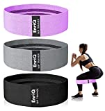 EnriQ Booty Bands Fabric Resistance Bands for Legs and Butt Cloth Hip Bands Workout Exercise Bands 3 Set Women Men Stretch Exercise Loops Thick Wide Non Slip Bootie Band