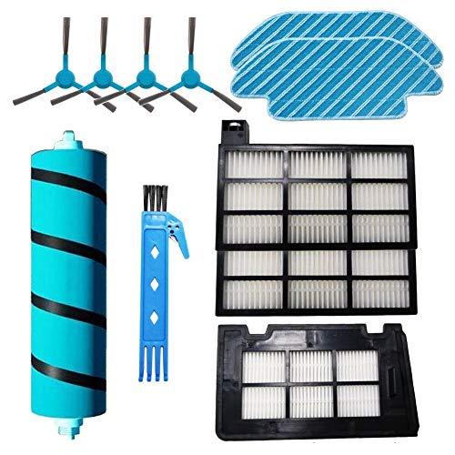 DOKKOO Recambios Accesorios para Cecotec Conga 4090 Robot Aspiradora, Material Premium 1 Cepillo Principal + 2 Mopas + 4 Cepillos Laterales +1filtros de Tanque de Agua+2 filtros de Caja de Polvo