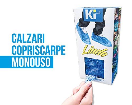 COPRISCARPE MONOUSO LINDO - con adesivo da parete o scrivania - Copricalzature, (100 calzari)