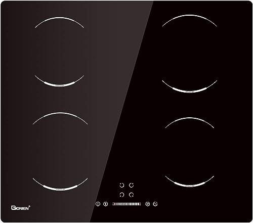 GIONIEN Plaque de Cuisson à Induction, Plaque de Cuisson électrique intégrée de 60 cm, cuisinière à 4 brûleurs GIB464SC