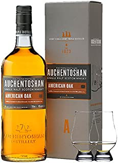 Auchentoshan American Oak Single Malt Whisky 0,7 Liter  2 Glencairn Gläser