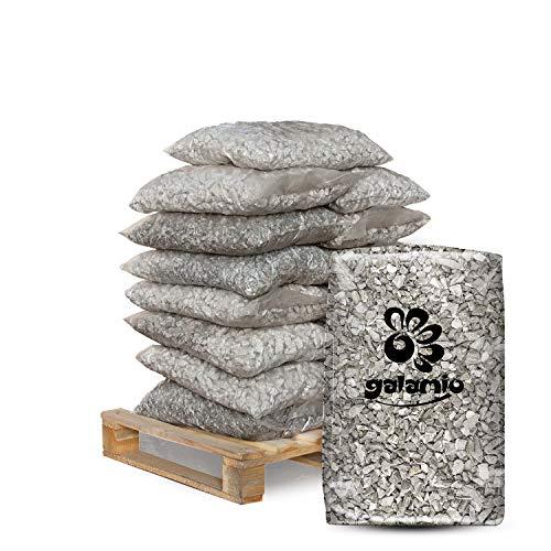 GALAMIO Granitsplitt Ziersplitt Edel Kies Deko Stein Garten Natur Kiesel Dekor Grau Grob 16-22mm 20kg x 15 Sack 300kg / 1 Palette Paligo