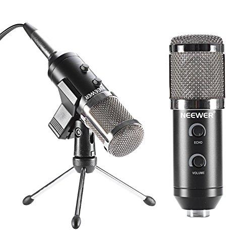 Neewer® Negro NW-300E Profesional USB Micrófono Condensador