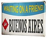 Li6454e Tin Sign Retro Art Metropole Buenos Aires Argentina Poster for Home Signs Metal Art Decor Wall Plate 8x12