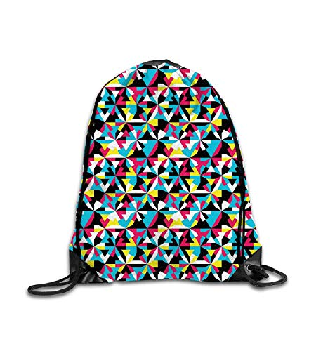 huatongxin Customized backpack Abstract Grunge Design with Angular Shapes Colorful Sixties Style Inspired Motif Multicolor Fitness beam backpack, sports backpack, school bag