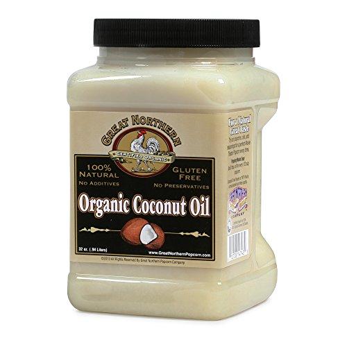 4215 Great Northern Popcorn Premium Organic Coconut Oil, 32 Ounces