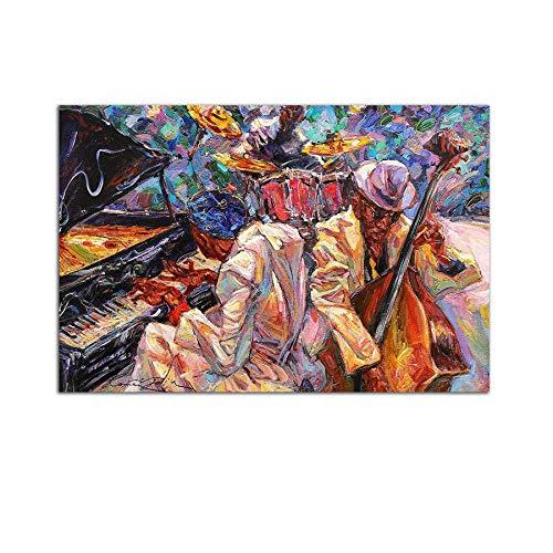 Startonight Cuadro sobre Vidrio - Música de la Orquesta Jazz - Moderno...