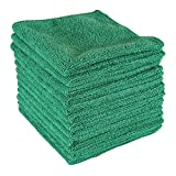 Dry Rite Best Magic Microfiber Cloth - Professional Series Cleaning Towels for Fine Auto Finishes, Interior, Chrome, Kitchen, Bath, TV, Glass- Non Scratching, Streak Free, Use Wet or Dry - 12' x 12'
