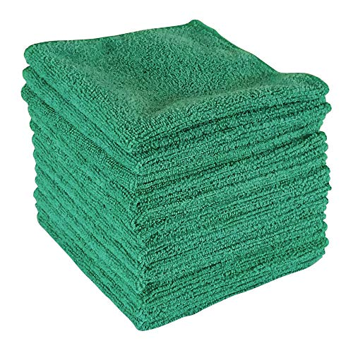 "Dry Rite Best Magic Microfiber Cloth - Professional Series Cleaning Towels for Fine Auto Finishes, Interior, Chrome, Kitchen, Bath, TV, Glass- Non Scratching, Streak Free, Use Wet or Dry - 12"" x 12"""
