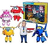 Baby Supplies HIL Super Wings Traje De Deformación Juguete De Deformación Robot Vehículo Transformador Transformar-A-Bots 5 Figuras De Juguete Figura Transformadora Regalo De Cumpleaños