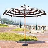 Z-DYQ Sombrilla Parasol al Aire Libre de Madera Maciza de 9 * 8 Pulgadas, Paraguas Paraguas Paraguas de Mesa para jardín Piscina y Playa Tres Colores Disponibles