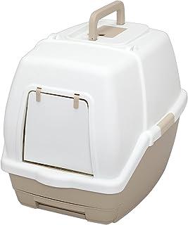 アイリスオーヤマ システムトイレ用 1週間取り替えいらずネコトイレ フード付 ホワイト/ベージュ