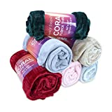 Arkwright Fleece Throw Blankets (50x60, 12-Pack, Assorted Colors) - Soft and Warm Coral Fleece Throws (Assorted Colors)