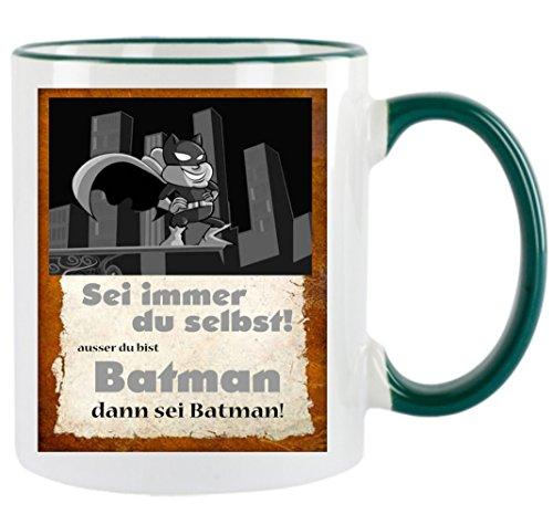 Creativ Deluxe Sei Immer du selbst ausser du bist Batman Kaffeetasse mit Motiv, Bedruckte Tasse mit Sprüchen oder Bildern - auch individuelle Gestaltung nach Kundenwunsch