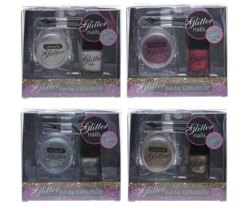 Treffina Casuelle Kosmetikkoffer Glitter Nagellack Set