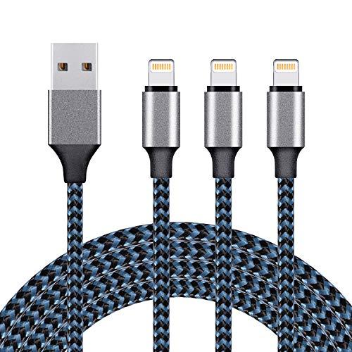 iphoneケーブル usbケーブル ライトニングケーブル lightning ケーブル アイフォン充電 【3本セット 1M+1M+1M】 高速データ転送 急速充電 USB同期&充電 高耐久 断線防止 アイフォン充電ケーブル iPhone XS/XS Max/XR/X/8/8Plus/7/7 Plus/6s/6s Plus/iPad/iPod各種対応