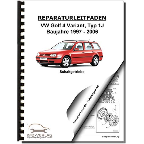 VW Golf 4 Variant (97-06) 5 Gang Schaltgetriebe 02K Kupplung Reparaturanleitung