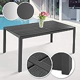 Miadomodo Table de Jardin - pour 6 Personnes, 150 x 90 x 72 cm, Structure en Acier,...