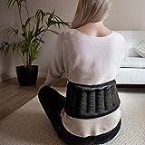 Huggaroo Wearable Back Wrap Microwavable Heating Pad, Scent-Free, Black