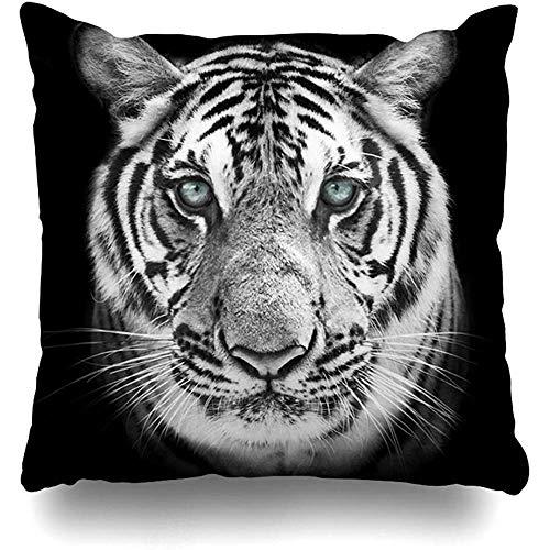 Asekngvo Cojines Fundas Tigre de Bengala Blanco Máscara Negra Gato más Grande Belleza Salvaje Bestia poderosa más peligrosa Decoración para el h