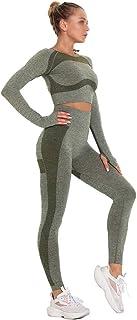 BODODO Mode Yoga-Kleidungsset f/ür Damen Sportswear 2 Teile Bekleidung Yoga Set Sport-Set Fitness Sportbekleidung Trainingsanzug F/ür Yoga Laufen und Andere Freizeitanzug Sportswear