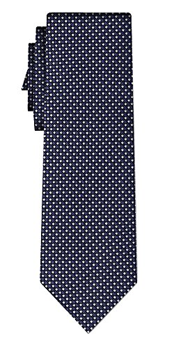 Cravate soie small dots pattern navy
