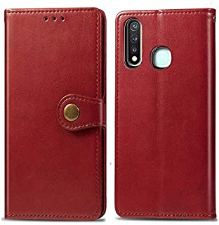 Business, With Wallet Cellphone Cases Cover Phone Case For Vivo Y19 Wallet Premium PU Leather Slim Case With Dual-way Strong Magnetic Closure For Vivo Y19 (Color : Red)