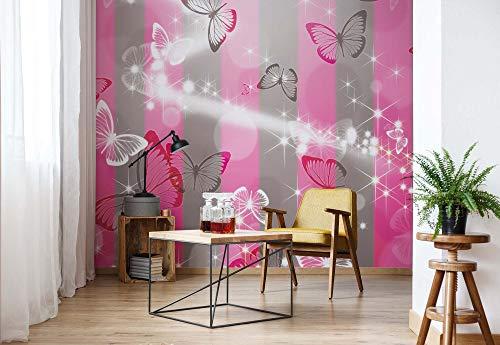 Schmetterlinge - Wallsticker Warehouse - Fototapete - Tapete - Fotomural - Mural Wandbild - (401WM) - XXXL - 416cm x 254cm - VLIES (EasyInstall) - 4 Pieces