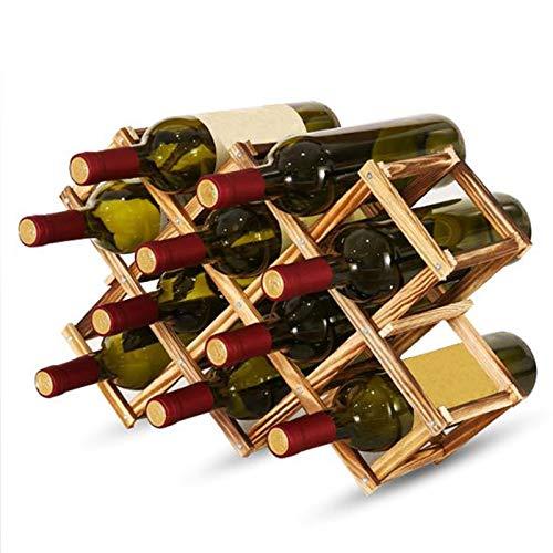 Estante De Vino, Estanterías De Almacenamiento De Vinos De Madera, Bastidores De Bodega De Vino Apilable De Madera, Estantería De Exhibición para Cabinas De Cocina De Cocina