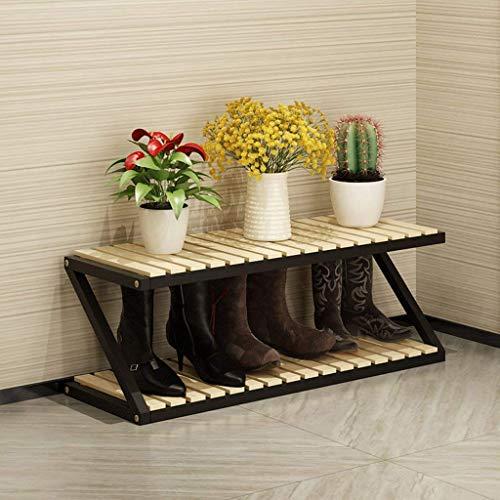 Zapatero, Zapatos a prueba de polvo Gabinete Home Solid Wood Shoe Shelf Rack de almacenamiento de zapatos, Multifuncional Multi-Capa Multi-Capa Bastadora de zapatos (Color: # 3, Tamaño: 3 capas)