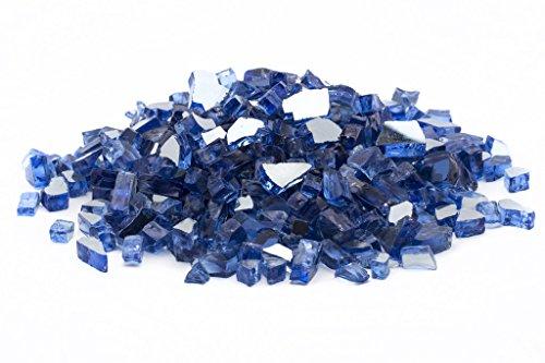 "Margo Garden Products 1/2"" 25lbs Dragon Glass, 25 lb, Cobalt Blue"