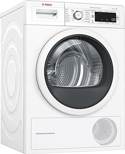 Bosch WTW87541 Serie 8 Wärmepumpentrockner / A++ / 259 kWh/Jahr / 9 kg / weiß / Edelstahltrommel / selbstreinigender Kondensator / AutoDry