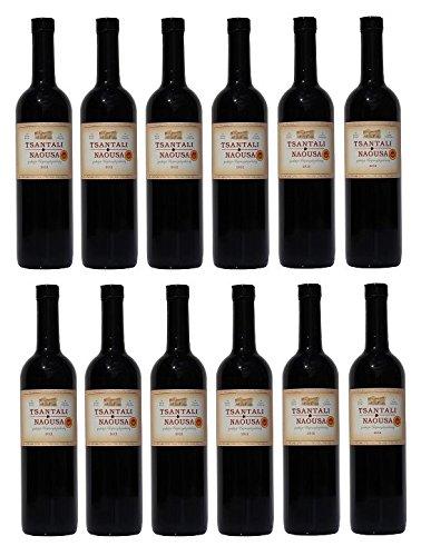 12x Tsantali Naousa Rotwein Naoussa trocken je 750ml + 2 Probier Sachet Olivenöl aus Kreta a 10 ml - griechischer roter Wein Rotwein Griechenland Wein Spar Set