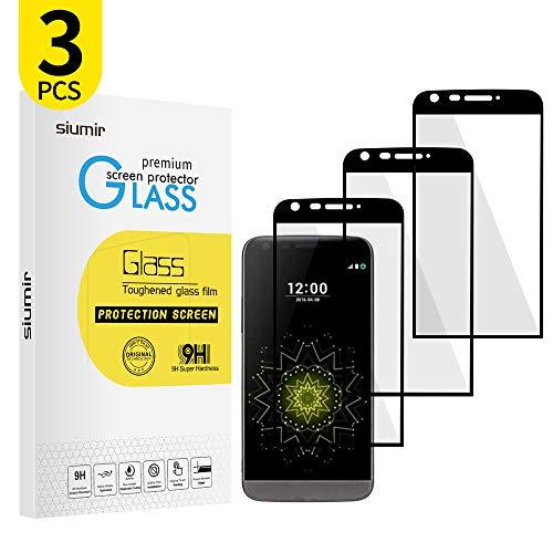 Siumir Full Screen Displayschutzfolie für LG G5 5.3 Zoll 9H Gehärtete Tempered Glas Screen Protector Volle Bedeckung, Anti-Kratzer, 0,3 mm 3 Stück