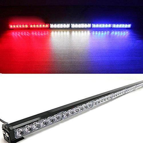 HEHEMM Lumière d'urgence, 36 LED 12V Barre de Lumière Stroboscopique Barre D'éclairage de Voiture Flash Voyants D'alarme Pompier Lumière Clignotante pour Camion de Voiture (Mixte)
